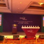 The Tourism Ireland podium in the St. Regis Hotel